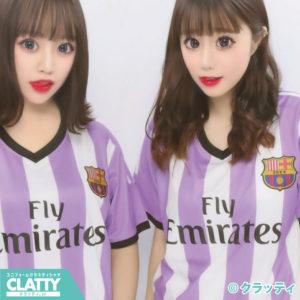 紫ストライプサッカーユニフォーム